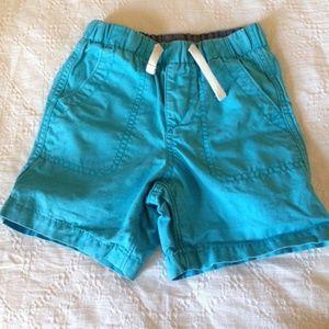 Gap Pull up shorts in aqua blue
